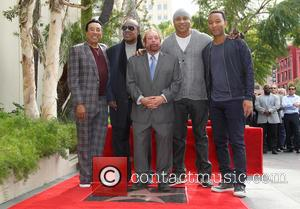 Smokey Robinson, Stevie Wonder, LL Cool J, John Legend and Ken Ehrlich - Kenneth Ehrlich honored with a star on...