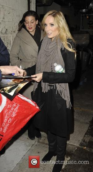 Shots of British actress Joanne Froggatt as she left the Kelly and Micheal show in Manhattan, New York, United States...