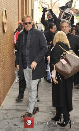 Shots of American Hollywood actor Kevin Costner outside of the ABC studios in Manhattan, New York, United States - Thursday...