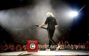 Brian May and Queen - Queen & Adam Lambert perform a sold out concert at the Ziggo Dome - Amsterdam,...