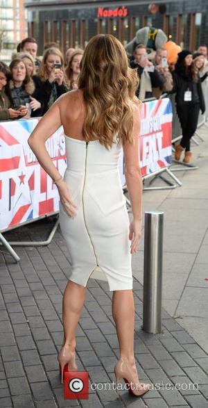 Amanda Holden - Shots of the celebrity judges for Britains Got Talen as they arrived at The Lowry for day...