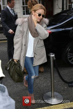 Kylie Minogue - Kylie Minogue leaving The Chiltern Firehouse - London, United Kingdom - Friday 30th January 2015