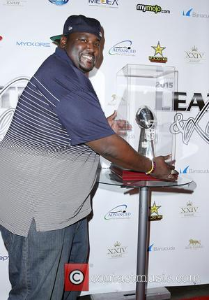 Quinton Aaron - 12th Annual Leather and Laces Super Bowl Party Night One at The Bentley Projects Gallery Phoenix Arizona...