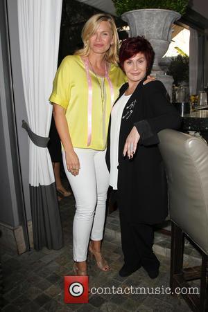 Natasha Henstridge and Sharon Osbourne - 'Extra' correspondant Terri Seymour's baby shower at Pump Lounge - West Hollywood, California, United...