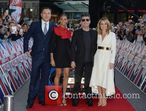 Simon Cowell, David Walliams, Amanda Holden and Alesha Dixon