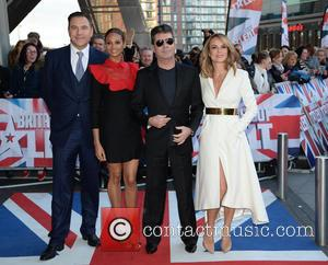 Simon Cowell, David Walliams, Amanda Holden and Alesha Dixon - Judges arrive at Lowry Theatre Manchester for 'Britain's Got Talent'...