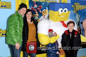 Patrick Wilson and Dagmara Dominczyk - 'The SpongeBob Movie: Sponge Out of Water' world premiere at AMC Lincoln Square Theater...