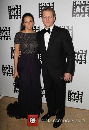 Luciana Barroso and Matt Damon - 65th Annual ACE Eddie Awards at The Beverly Hilton Hotel - Arrivals at the...