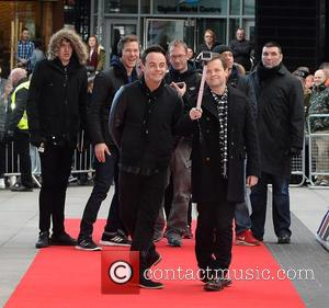 Anthony McPartlin and Declan Donnelly - Judges arrive at Lowry Theatre Manchester for 'Britain's Got Talent' Auditions at Britain's Got...