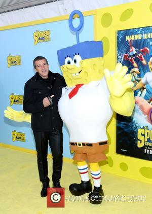 Antonio Banderas - 'The SpongeBob Movie: Sponge Out of Water' New York premiere - Arrivals - New York, New York,...
