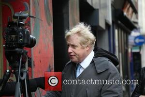 Tim Arnold and Boris Johnson