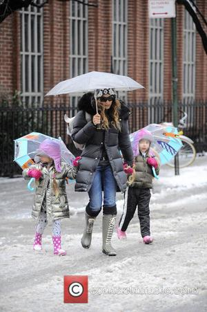 Sarah Jessica Parker, Tabitha Broderick and Marion Broderick - Sarah Jessica Parker takes her twin daughters Tabitha and Marion Broderick...