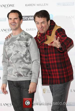 Jimmy Carr and Jonathan Ross - Shots from a party ahead of the EE and InStyle British Academy of Film...