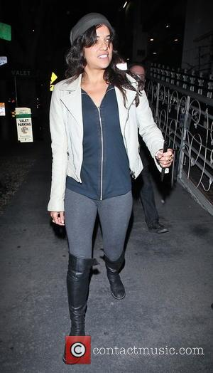 Michelle Rodriguez - Celebrities at Madeo Restaurant - Los Angeles, California, United States - Tuesday 3rd February 2015