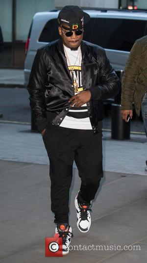 American R&B star Ne-Yo was spotted as he arrived at the BBC Radio 1 studios ahead of his interview...