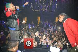 Chris Brown, Sean Kingston and Travis Scott - Sean Kingston celebrates his 25th birthday at Argyle in downtown LA at...
