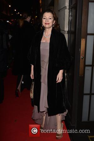 Lesley Manville - BAFTA - fundraising gala dinner & auction held at BAFTA Piccadilly, Arrivals. - London, United Kingdom -...