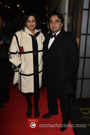 Meera Syal and Sanjeev Bhaskar - BAFTA - fundraising gala dinner & auction held at BAFTA Piccadilly, Arrivals. - London,...