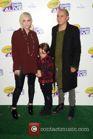 Ashlee Simpson Ross, Bronx Wentz and Evan Ross