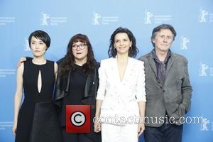 Rinko Kikucho (l-r), Director Isabel Coixet, Actors Juliette Binoche and Gabriel Byrne