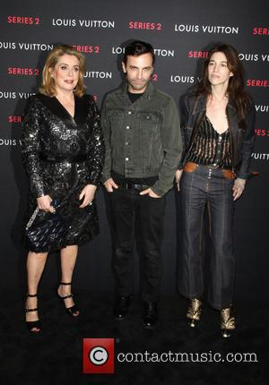 Catherine Deneuve, Nicolas Ghesquiere and Charlotte Gainsbourg