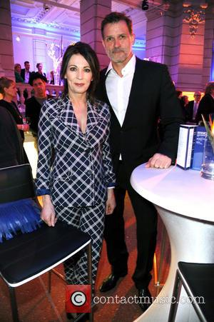 Iris Berben and Heiko Kiesow - 65th Berlin International Film Festival (Berlinale) - Blue Hour party by ARD & Degeto...