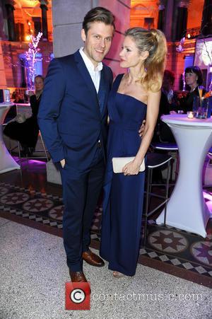 Jens Atzorn and Nina Friederike Gnaedig - 65th Berlin International Film Festival (Berlinale) - Blue Hour party by ARD &...