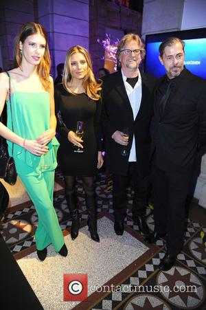 Julia Trainer, Sophia Thomalla, Martin Krug and Sven Martinek - 65th Berlin International Film Festival (Berlinale) - Blue Hour party...