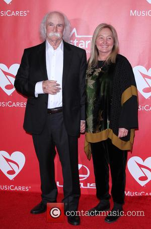 David Crosby and Jan Dance - 2015 MusiCares Person of the Year gala honoring Bob Dylan at the Los Angeles...