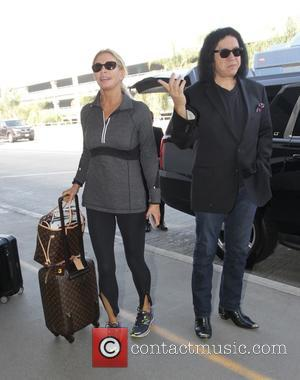 Gene Simmons and Shannon Tweed - Gene Simmons and Shannon Tweed depart from LAX airport in Los Angeles - Hollywood,...
