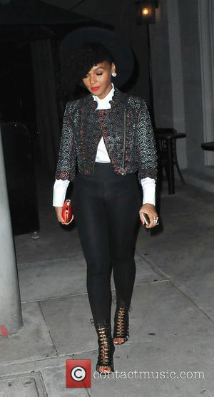 Shots of American R&B and soul singer Janelle Monae as she attended the L.A. Reid Grammy after party which was...