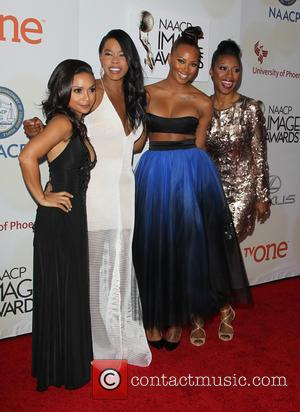 Danielle Nicolet, Golden Brooks, Eva Marcille and Gabrielle Dennis - THE 46th NAACP Image Awards at Pasadena Civic Auditorium -...