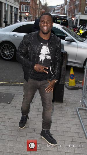 Kevin Hart - Kevin Hart pictured arriving at the BBC Radio 1 studios at BBC Portland Place - London, United...
