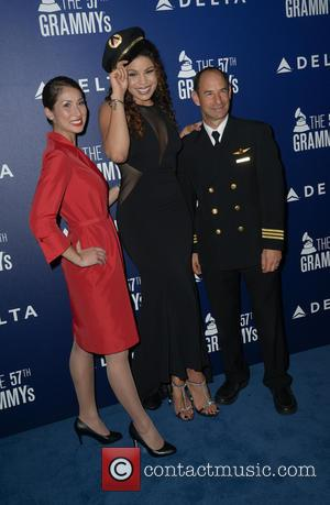 Jordin Sparks - A host of stars were photographed as they arrived at the Delta Airlines Grammy Pre-Party which saw...