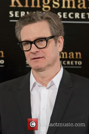 Shots of British actor Colin Firth who stars in the new action film 'Kingsman: The Secret Service' at a photocall...