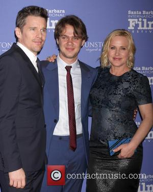 Ethan Hawke, Ellar Coltrane and Patricia Arquette - Santa Barbara International Film Festival 2015 - American Riviera Award at Arlington...