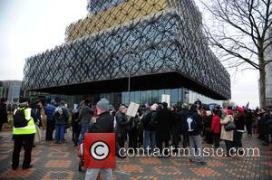Atmosphere and Anti Government Cuts Protesters