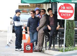 Kevin Connolly, Adrian Grenier, Kevin Dillon and Jeremy Piven - The new 'Entourage' movie is filmed in Hollywood - Los...
