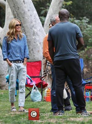 Heidi Klum and Seal - Heidi Klum and Seal watch their kids play soccer in Brentwood - Los Angeles, California,...