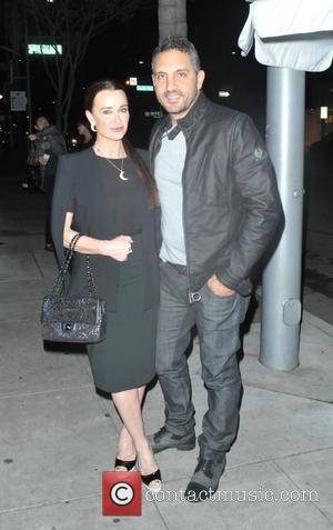 Kyle Richards and Guraish Aldjufrie - Kyle Richards and Guraish Aldjufrie have dinner at The Palms in Beverly Hills at...