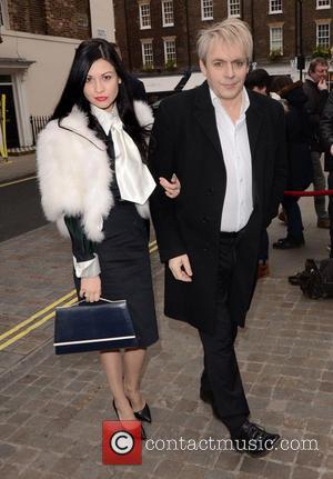 Nefer Suvio and Nick Rhodes - Working Title pre-BAFTA VIP brunch at Chiltern Firehouse at Chiltern Firehouse - London, United...