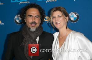 Alejandro González Iñárritu and María Eladia Hagerman - Celebrities attend 67th Annual DGA Awards - Arrivals at the Hyatt Regency...