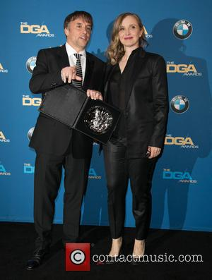 Richard Linklater and Julie Delpy - Celebrities attend 67th Annual DGA Awards - Press Room at the Hyatt Regency Century...