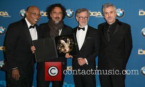 Paris Barclay, Alejandro González Iñárritu, Steven Spielberg and Alfonso Cuaron