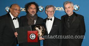 Paris Barclay, Alejandro González Iñárritu, Steven Spielberg and Alfonso Cuaron - Celebrities attend 67th Annual DGA Awards - Press Room...