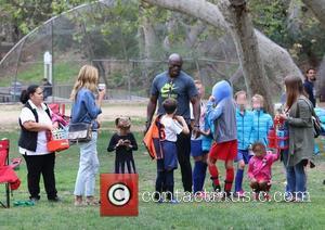 Heidi Klum, Seal, Henry Samuel and Leni Samuel - Heidi Klum and Seal watch their kids play soccer in Brentwood...