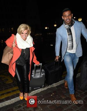 Kerry Katona and George Kay - Kerry Katona and George Kay arriving back at their London Hotel after attending the...