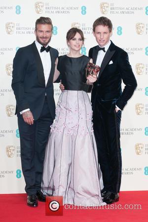David Beckham, Felicity Jones and Eddie Redmayne