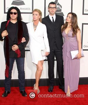 Gene Simmons, Shannon Tweed, Nick Simmons and Sophie Simmons - 57th Annual GRAMMY Awards held at the Staples Center in...