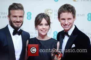 Felicity Jones, Eddie Redmayne and David Beckham